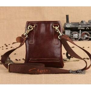 brown Black leather bag