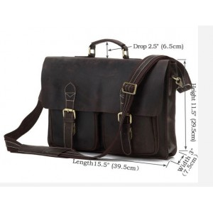 mens leather document briefcase