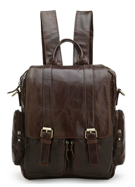 Messenger bag backpack, leather organizer backpack - BagsWish