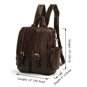 leather organizer backpack