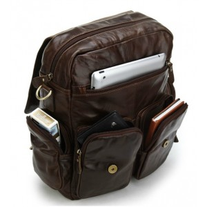 coffee leather organizer backpack