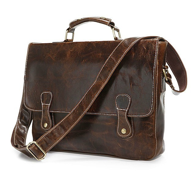 Luxury briefcase, men leather bag - BagsWish