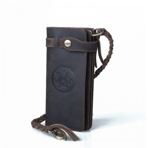 Western leather wallet