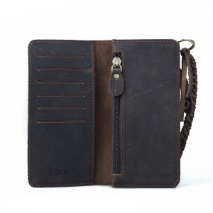 retro Western leather wallet