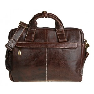coffee briefcase leather