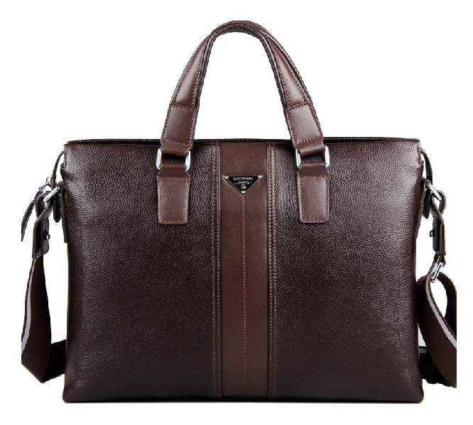 Leather briefcase bag for men, leather briefcase for 14