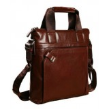 Vintage leather messenger bag for men, vintage leather shoulder bag