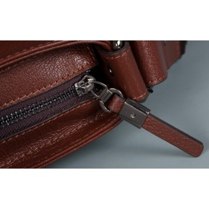coffee Vintage messenger bag leather