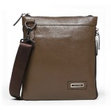 Mens leather messenger bag, mens shoulder bag