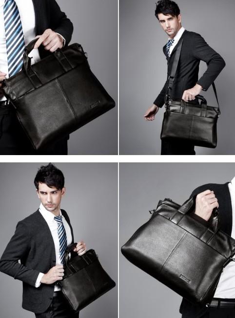 14 laptop bag, executive leather briefcase - BagsWish