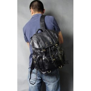 mens Punk leather satchel bag
