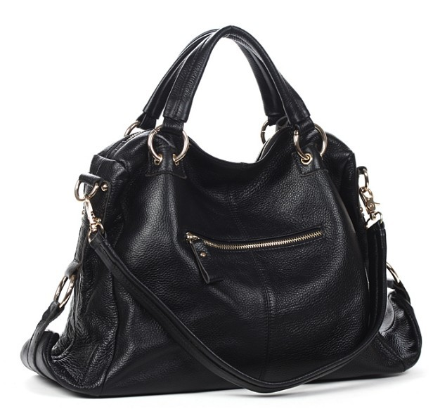 Black Leather Handbag Women