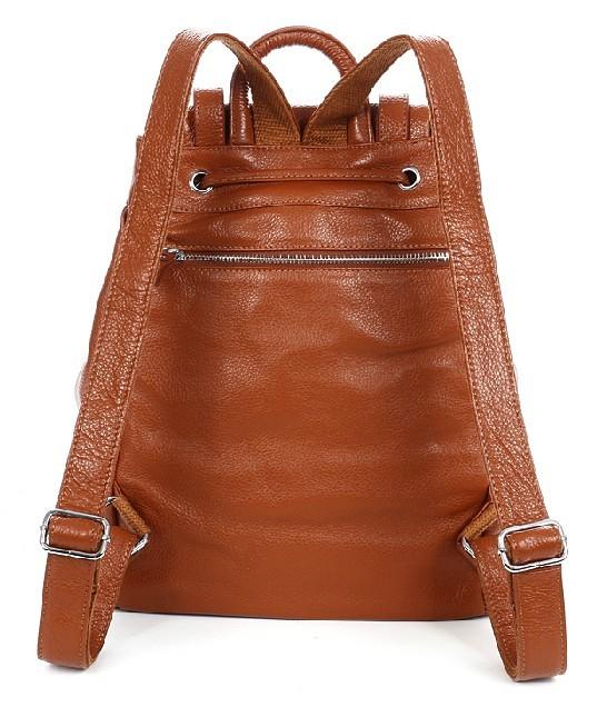 Black leather backpack purse, canvas rucksack backpack - BagsWish