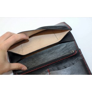 Handcrafted leather wallet high end