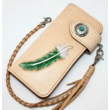 Handmade leather bag, high quality leather wallet