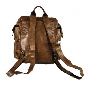 coffee leather weekend bag