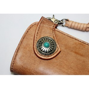 vintage Handmade leather biker wallet