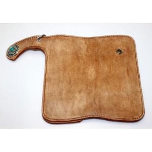 ladies Handmade leather biker wallet