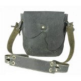 Distressed leather messenger bag for men, leather satchel