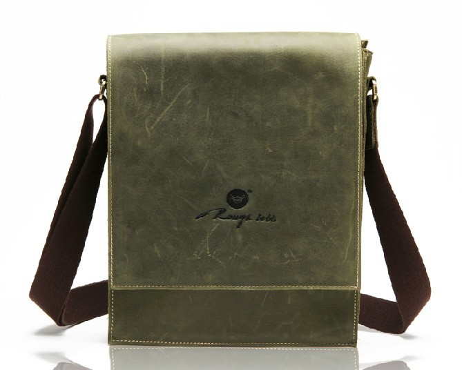 Mens courier bag, mens leather messenger bag - BagsWish