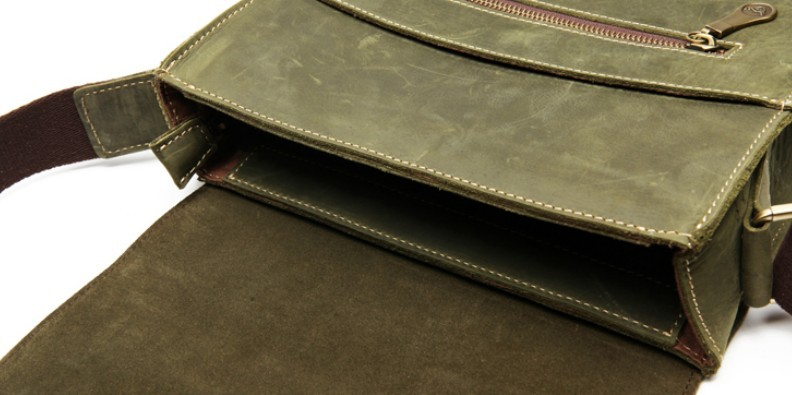 Mens courier bag, mens leather messenger bag - BagsWish