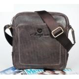 Mens leather shoulder bag, mens messenger bag