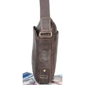 coffee Mens leather shoulder bag