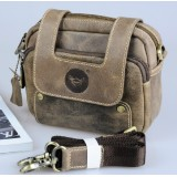 Mens vintage leather bag, waist bag