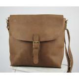 Mens leather bags, messenger bag brown