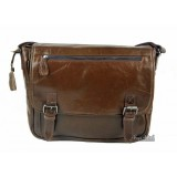 brown Nice leather messenger bag
