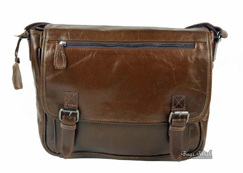 Nice leather messenger bag, over the shoulder bag - BagsWish