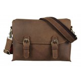 Distressed leather briefcase, fashion briefcases
