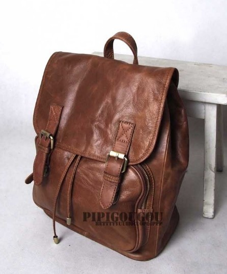 Vintage leather bags, mens leather backpack - BagsWish