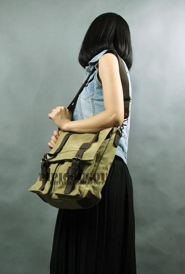 ladies military messenger bag