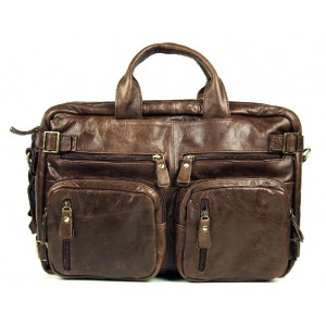 High quality briefcase, cool leather backpack