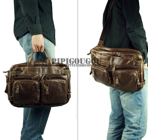 High quality briefcase, cool leather backpack - BagsWish