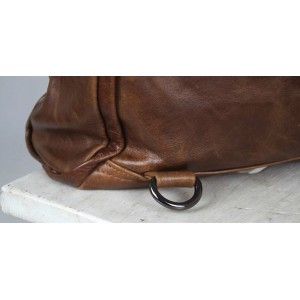 brown leather womens backpack