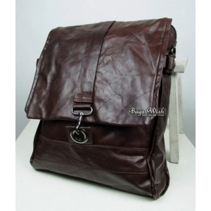 coffee leather womens backpack