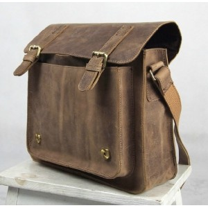 coffee Leather briefcases for men