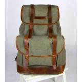 Canvas backpack, canvas leather backpack