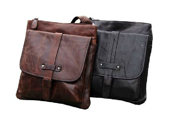 IPAD mens messenger bag leather, messenger bag for work - BagsWish