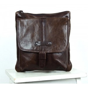 coffee IPAD mens messenger bag leather