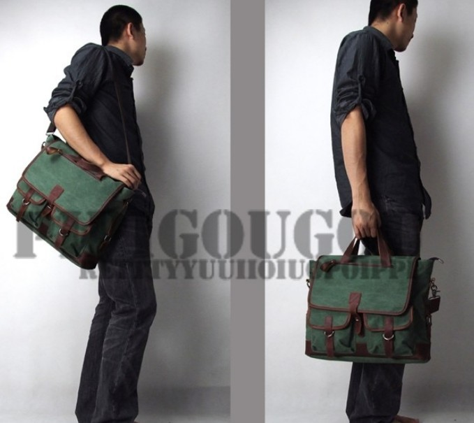 Mens canvas messenger bags, mens canvas satchel bags - BagsWish