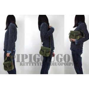 womens green leather messenger bag