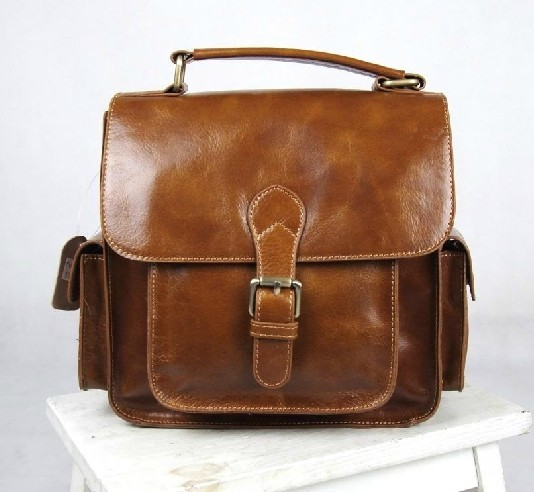 Leather man bag, leather mens messenger bag - BagsWish