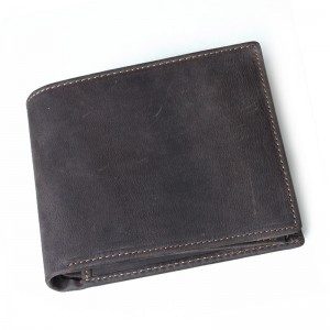 Leather mens wallet, leather money clip wallet