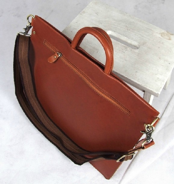 Leather messenger bag briefcase, leather messenger computer bag ...