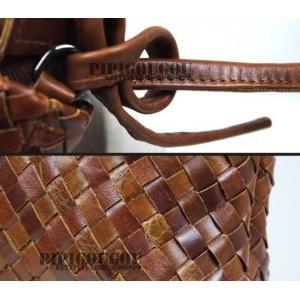 vintage Leather messenger bag for women