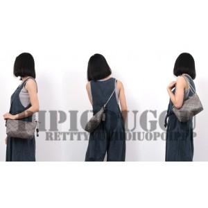 grey Leather messenger bag for women