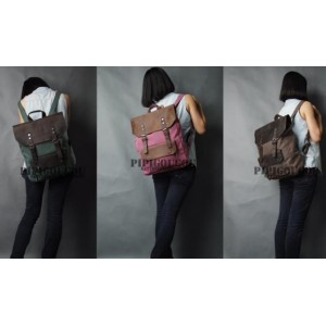 womens canvas leather backpacks